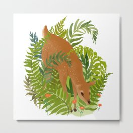 DEF in the Forest Metal Print