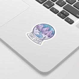 NIGHT COURT SNOW GLOBE Sticker
