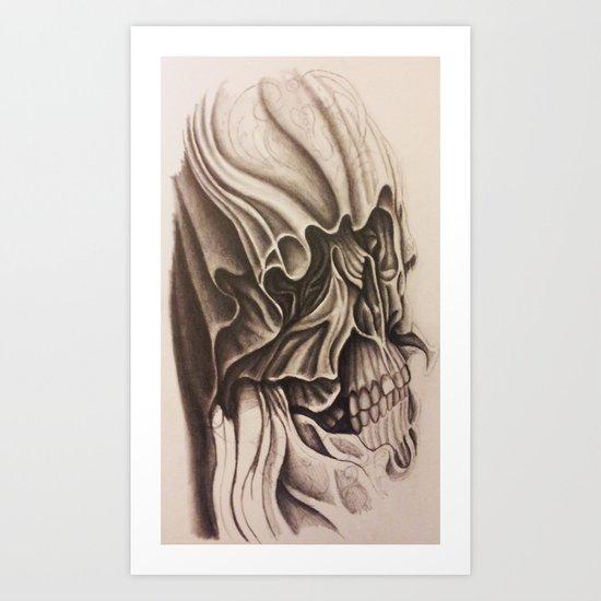 One Skull Art Print