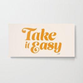 Take it Easy (Yellow Palette) Metal Print