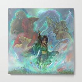 Final Fantasy IV - Rydia of Mist Metal Print