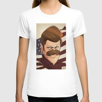 swanson T-shirts featuring Ron Swanson by nachodraws