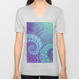 """Cosmic Space Kraken"", by Brock Springstead Unisex V-Neck"