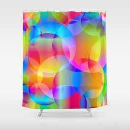 Soap bubbles for air mood. Shower Curtain