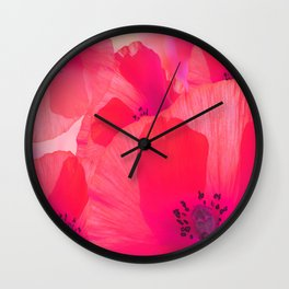 Red Poppies #decor #society6 #buyart Wall Clock