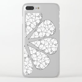 Bougambillia Black and White Clear iPhone Case