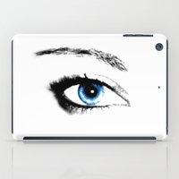 evil eye iPad Cases featuring Evil Eye by vogel