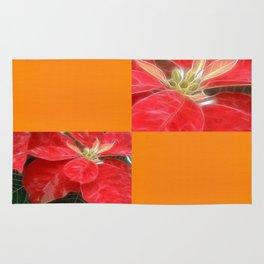 Mottled Red Poinsettia 1 Ephemeral Blank Q8F0 Rug