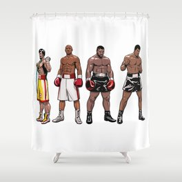 Boxing Champions Shower Curtain