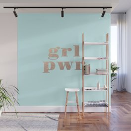 GRL PWR - rose gold Wall Mural