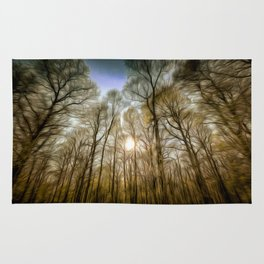 The Forest Sunset Art Rug