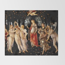 "Sandro Botticelli ""Primavera"" Throw Blanket"