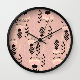 Floral blush Wall Clock