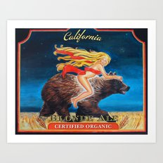 Ride Naked California Blonde Ale  Art Print