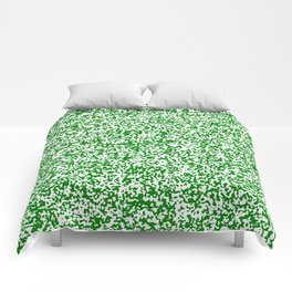 Tiny Spots - White and Green Comforters