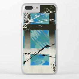 Blue Window Clear iPhone Case