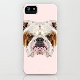 English Bulldog // Pastel Pink iPhone Case