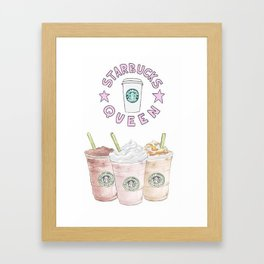 queen of coffee Framed Art Print
