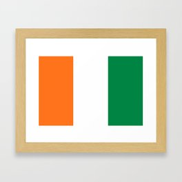 Flag of Ivory Coast Framed Art Print