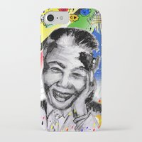 mandela iPhone & iPod Cases featuring Mandela forever by sladja