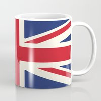 uk Mugs featuring UK by Lucy Jacquard
