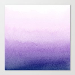 Purple Watercolor Design Canvas Print