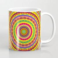 batik Mugs featuring Batik Bullseye by Peter Gross