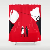 russia Shower Curtains featuring From Russia With Love by Alain Bossuyt