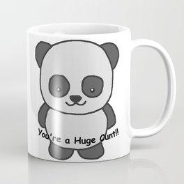 Panda says you're a huge cunt Coffee Mug