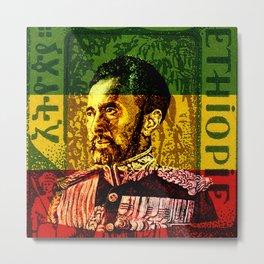 Haile Selassie King Metal Print