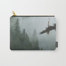 Battle for the Cedars - Bald Eagles Wildlife Scene Carry-All Pouch