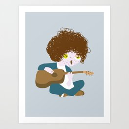 Curly Bob Art Print