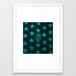 The Skull and Stars Framed Art Print