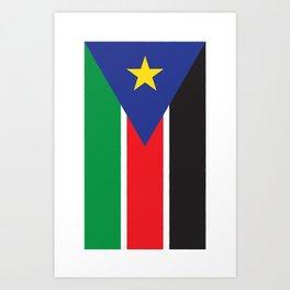 South Sudan Art Print
