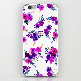 Ava Floral Purple iPhone Skin