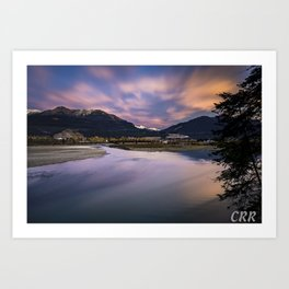 Confluence of the Kicking Horse and Columbia River Art Print