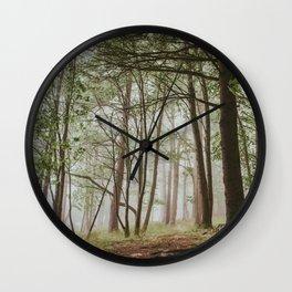 Foggy Woods Wall Clock