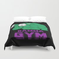 gym Duvet Covers featuring gamma gym by Louis Roskosch