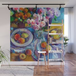 Still Life with Fruits and Flowers Wall Mural
