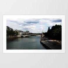 Les bords de Seine Art Print