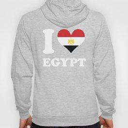 I Love Egypt Egyptian Flag Heart Hoody