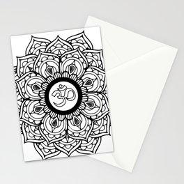 Om Hindu sacred sound symbol Mandala Stationery Cards