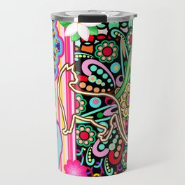 Mandalas, Cats & Flowers Fantasy Pattern Travel Mug