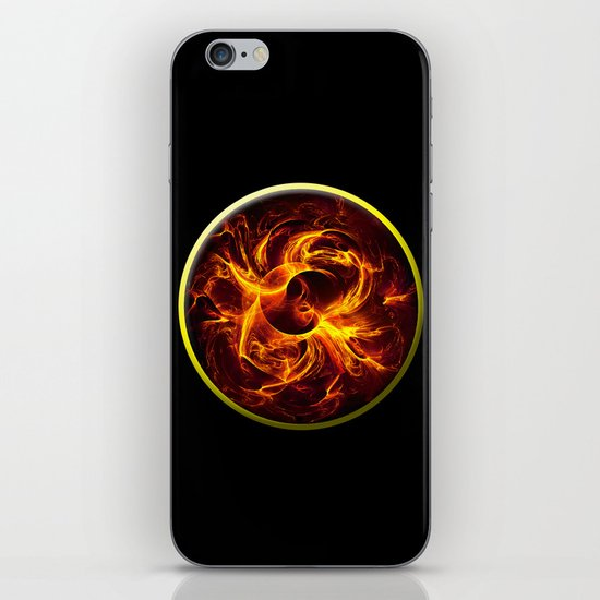 Flame Mandala iPhone & iPod Skin