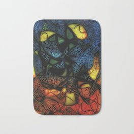 Realm of dotted shapes Bath Mat
