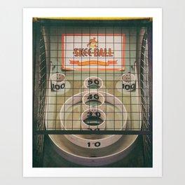 Skee Ball Game Art Print