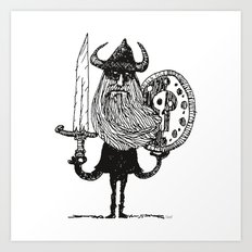 Sword, Beard & Shield Art Print
