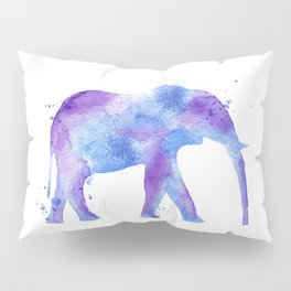Watercolor Elephant Pillow Sham
