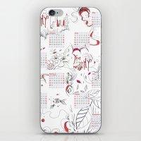 calendar iPhone & iPod Skins featuring Calendar mess by Dreamy Me