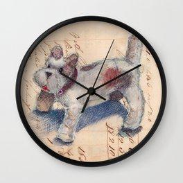 Chenille Dog Wall Clock